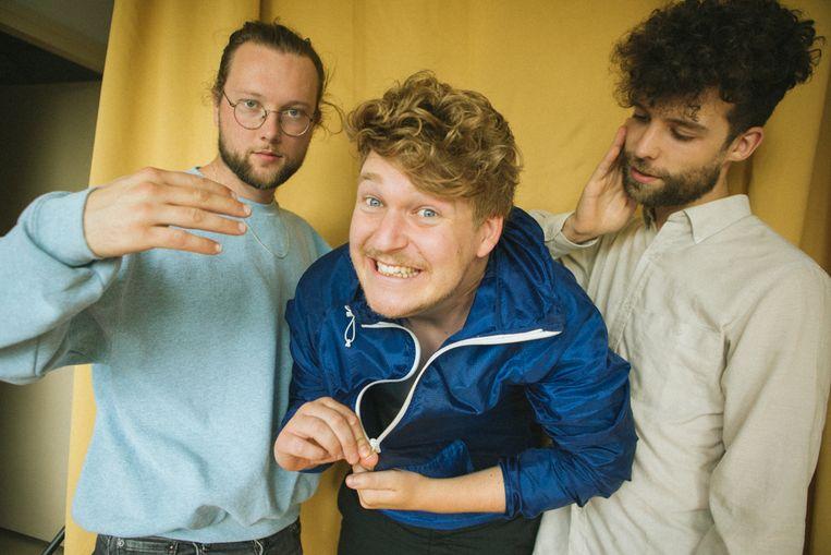 Van links naar rechts: Erik Buschmann, Koen van de Wardt, Wannes Salome. Beeld Bibian Bingen / Radar Agency