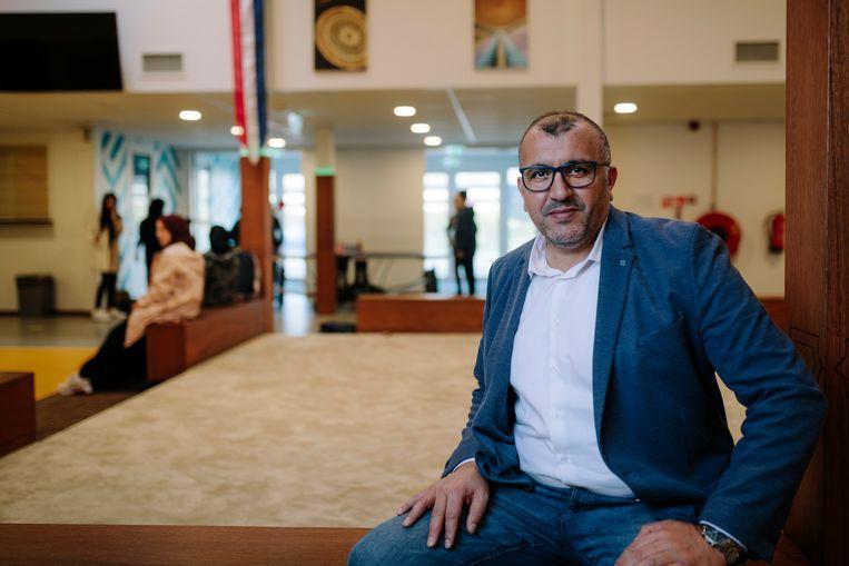 Amsterdam, 21 oktober 2020. Achmed Baadoud is de nieuwe bestuurder van het Cornelius Haga Lyceum. foto: Marc Driessen Beeld Marc Driessen
