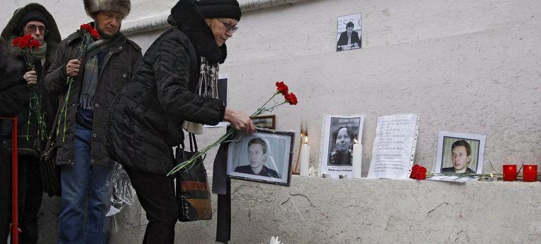 Eind 2008 startte het proces in de zaak-Politkovskaja, echter zonder de echte dader. Die zou 'onvindbaar' zijn. De vermoorde Markelov was één van de raadslieden van de familie-Politkovskaja. Foto EPA/Sergei Chirikov Beeld