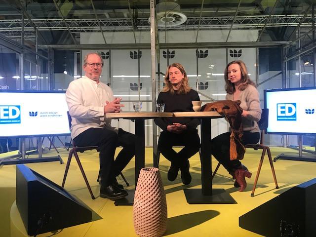 Rob Schoonen met Billie van Katwijk en Olivier van Herpt.