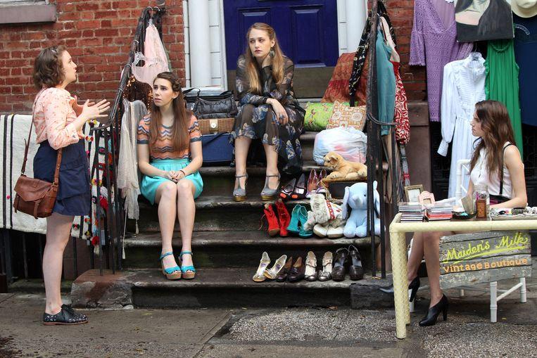Hannah, Shoshannah, Jessa en Marnie in Girls. Beeld Aby Baker / Getty