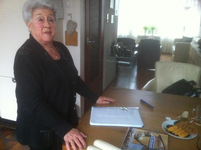 Chelly Meijer-van Dijk thuis in Krommenie.