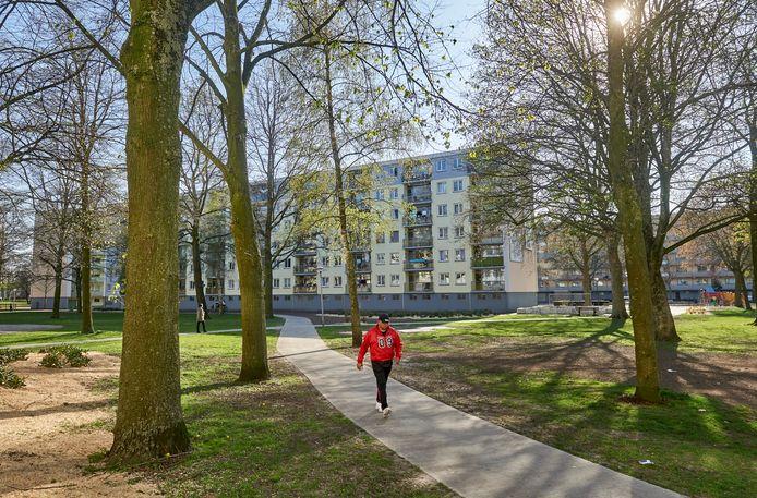 De flatwoningen aan de Beatrixhof te Uden. Fotograaf: Van Assendelft/Jeroen Appels