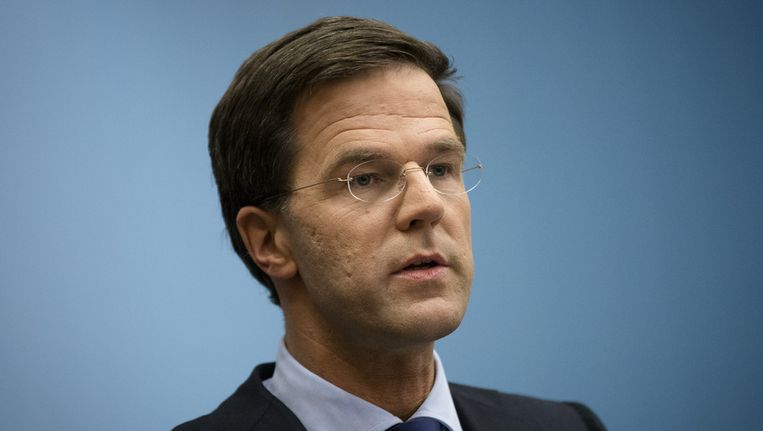 Premier Rutte. Beeld anp
