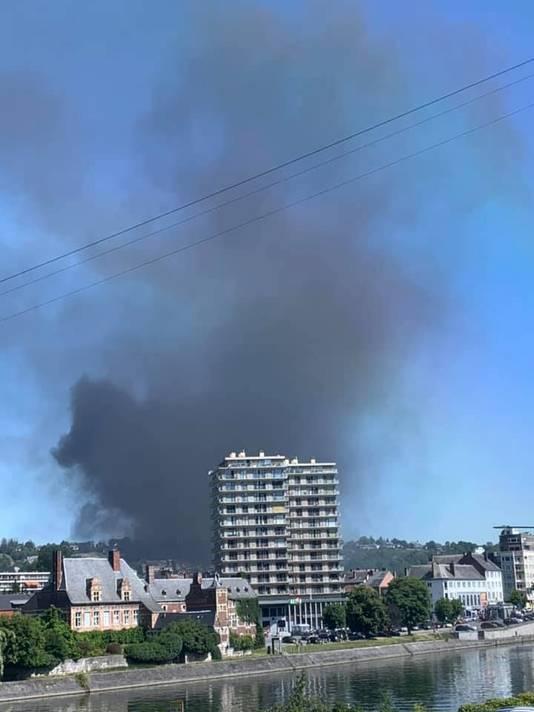 Incendie près de l'école Don Bosco, à Huy.