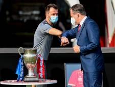 Vainqueur de la Coupe, l'Antwerp a été mis à l'honneur par la Ville d'Anvers au Bosuil