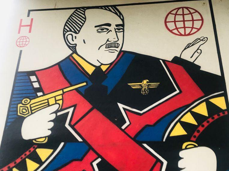 Een detail uit 'Het Verval': Adolf Hitler.