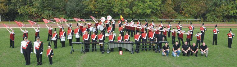 Het showkorps werd kampioen tijdens de VLAMO wedstrijd.