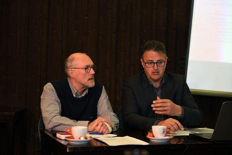Alfons Roebben en Jan Van Langendonck van het Leuvense Vestencomité.