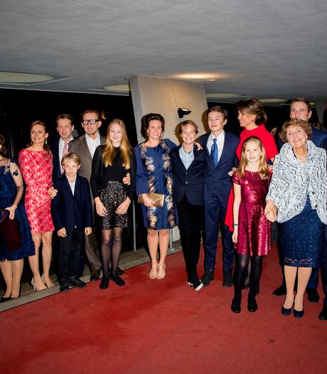 Koninklijke familie present op verjaardagsfeest prinses Margriet