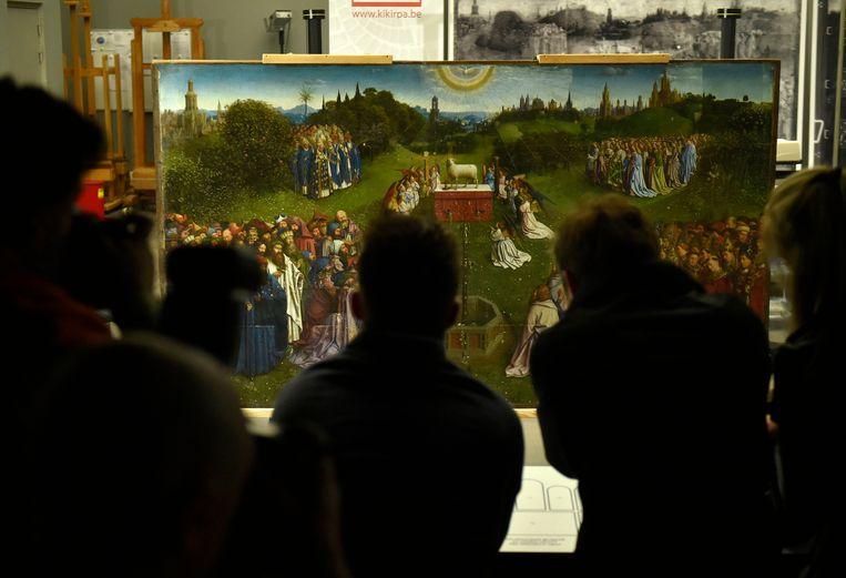 Ghent 19/06/18    Onthulling van het originele Lam Gods  van Van Eyck - Dévoilement de l'Agneau mystique original de Van Eyck    ©  Philip Reynaers  / Photonews
