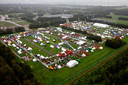 Luchtfoto van landbouwbeurs Agrotechniek Holland op evenemententerrein Walibi.