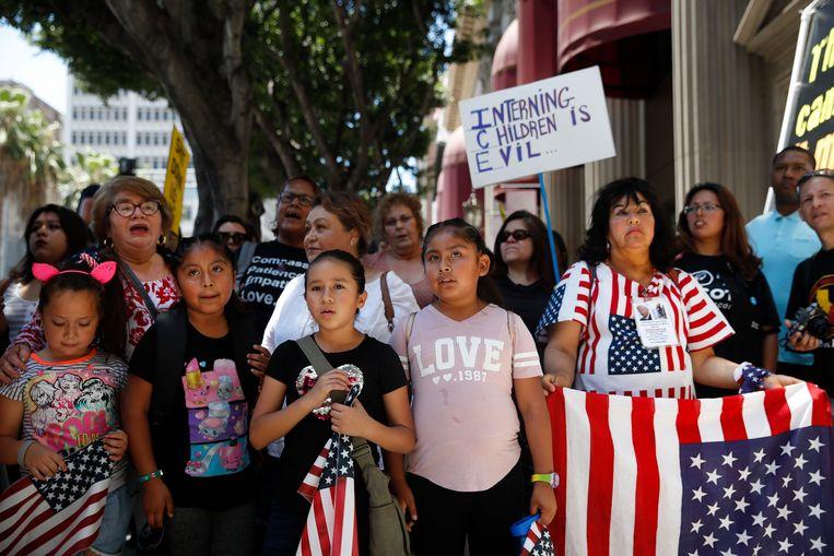 Demonstranten in Los Angeles.