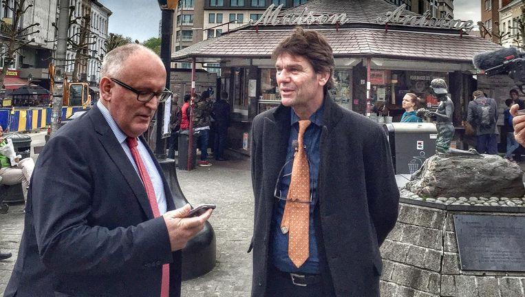 Frans Timmermans en Dirk Jan Roeleven. Beeld   Benny Jansen