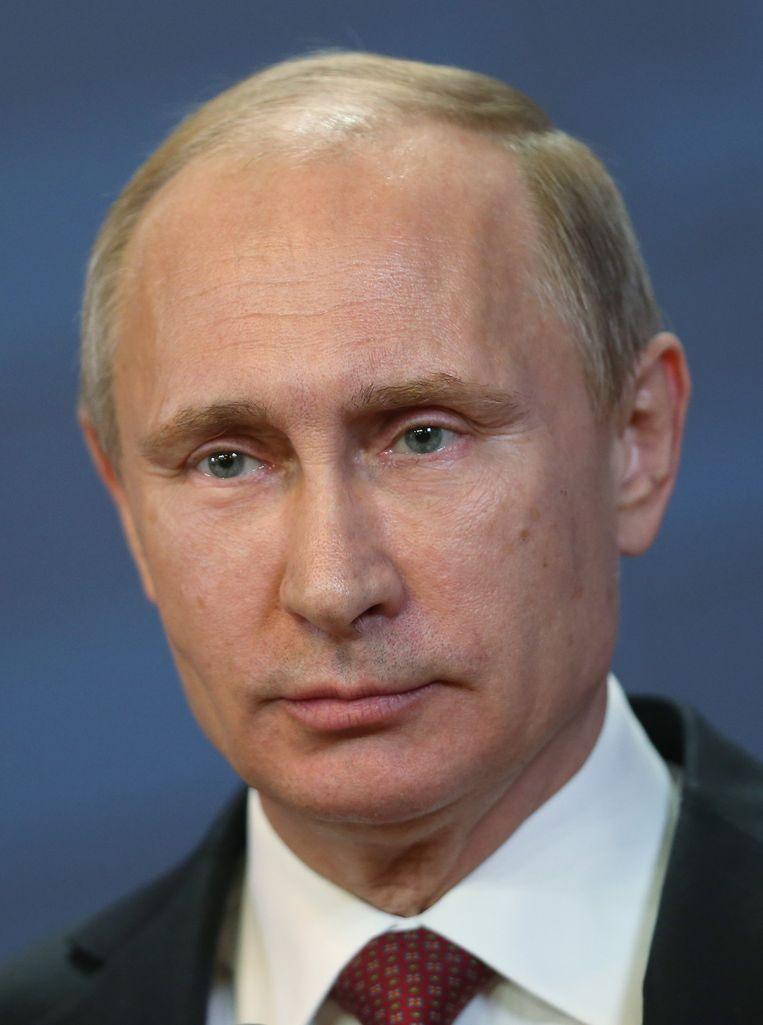 Er is geen alternatief voor Poetin. De peilingen zijn een uitdrukking van angst en wantrouwen. Beeld getty