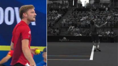 Nu ook in het tennis: Goffin roept als eerste speler ooit in ATP-match hulp in van VAR