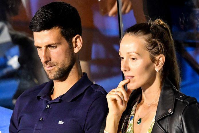 Djokovic en zijn vrouw Jelena.