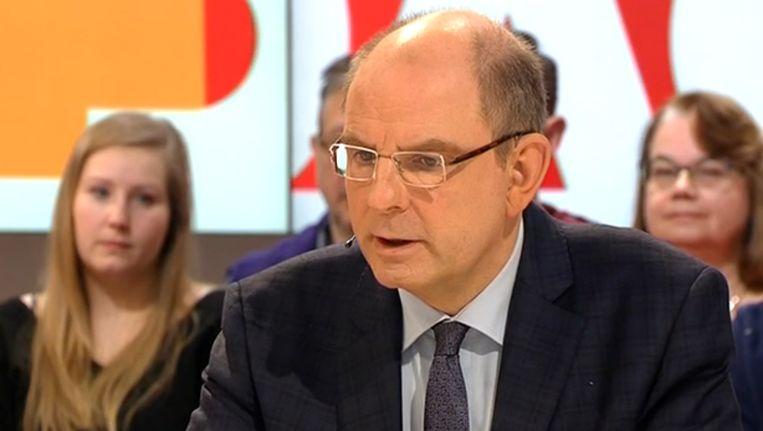 Justitieminister Koen Geens in 'De zevende dag'.