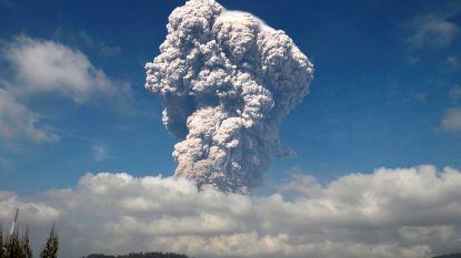 Sinabungvulkaan barst opnieuw uit op Indonesië
