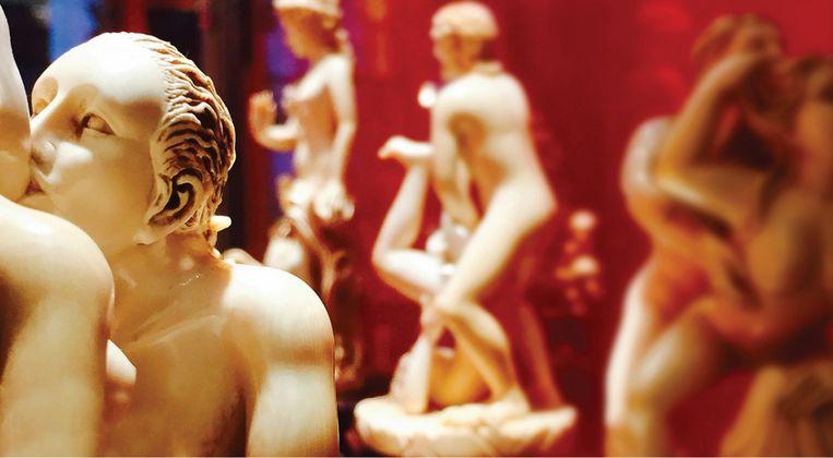 Groepsseks is voorlopig niet aan de orde in het MEM, het museum voor erotische kunst. Beeld