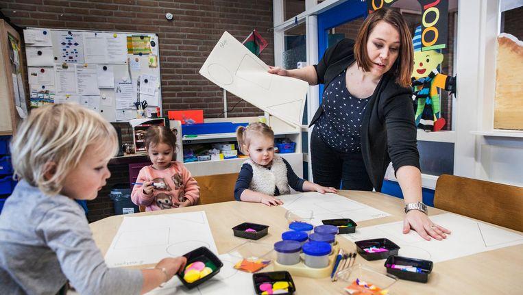 Voorschoolse opvang De Oliebron in Schoonbeek, 16 februari. Beeld Aurélie Geurts