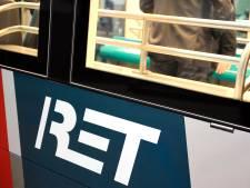 Tram ontspoord in Rotterdam-Zuid