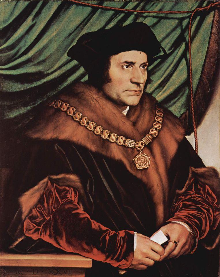 Thomas More, geportretteerd door Hans Holbein de Jongere.    Beeld Hans Holbein