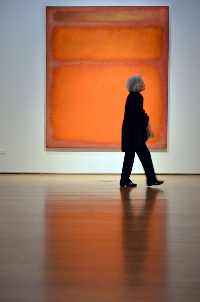 Het schilderij Oranje, rood, geel van Mark Rothko.