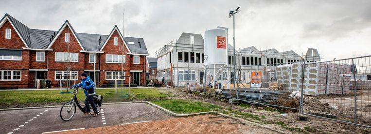 Nieuwbouw in de wijk Woerdblok in Naaldwijk.  Beeld null