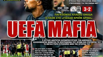 """UEFA maffia"": Grieken woedend op voetbalbond, arbiter 'Poison' en ""racistische"" Nederlandse commentator"