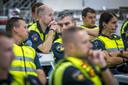 Politieagenten -hier in Limburg- voerden dit jaar actie voor een betere cao, met meer salaris en minder werkdruk
