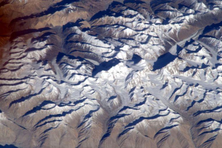 De foto die fout werd geïdentificeerd als Mount Everest.