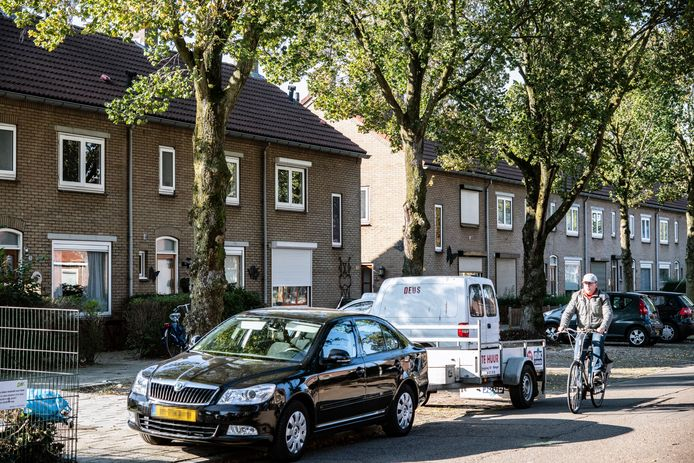 De Niersstraat in het Nijmeegse Waterkwartier, waar woensdag schoten werden gelost op een woning.