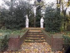 Calvarieberg in Duiven in oude glorie hersteld: heilige Johannes heeft weer een hele duim