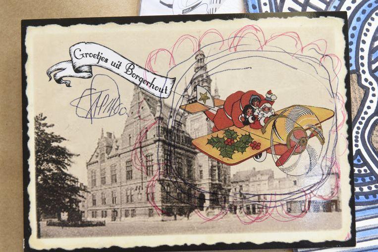 Dit zijn al enkele van de postkaarten die Leo heeft toegestuurd gekregen van collega-kunstenaars uit de hele wereld.