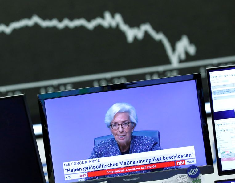 Christine Lagarde, president van de Europese Centrale Bank.  Beeld Reuters