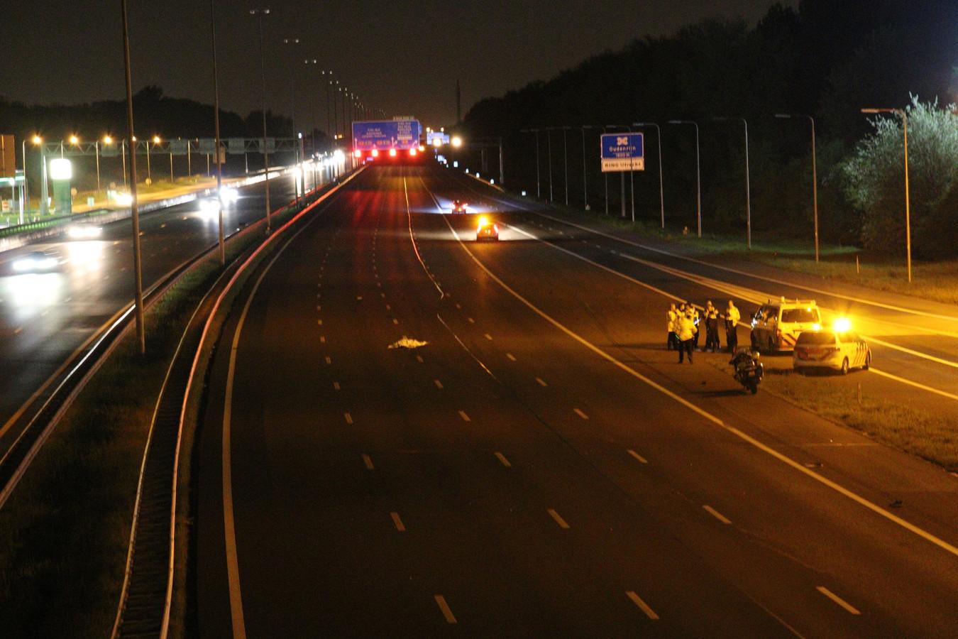 Het ongeluk gebeurde op de A2 bij Nieuwegein.