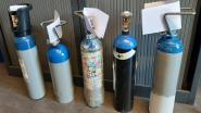 Politie betrapt vier jongeren met fles lachgas van 7,5 kilo