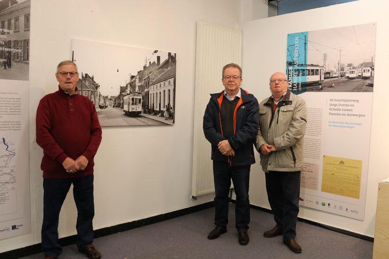 Willy van Den Branden, Freddy Huylebroeck en André Van Bossche zijn de drijvende krachten achter de tentoonstelling.