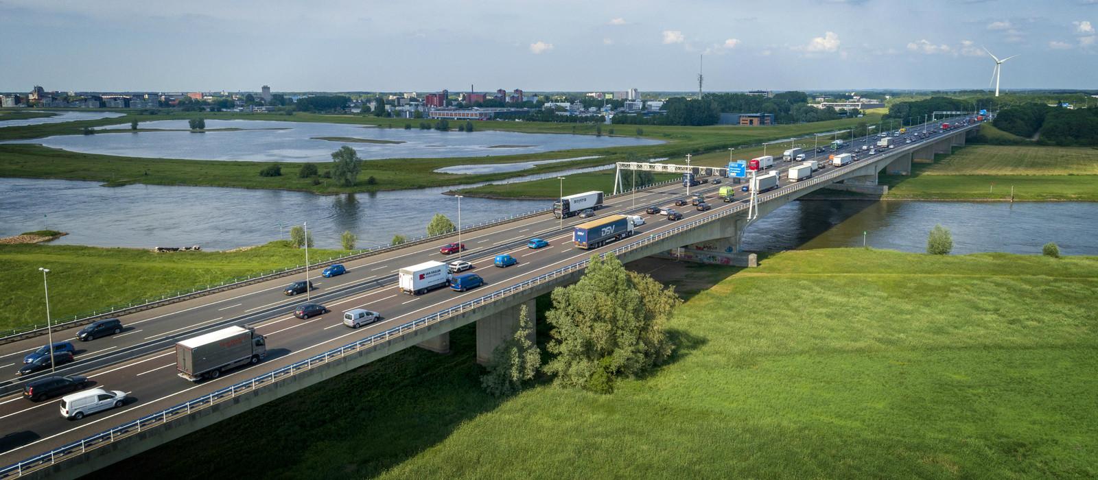 De A1 ter hoogte van Deventer.