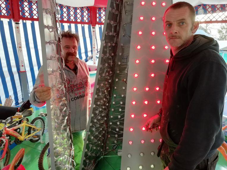 480 lampjes zitten in de centrale as. Glenn kreeg hierbij hulp van Diego Greif.