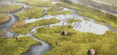 Eenvoudige waterspeelplaats bij de Waterschans, streep door waterpark Fort de Roovere
