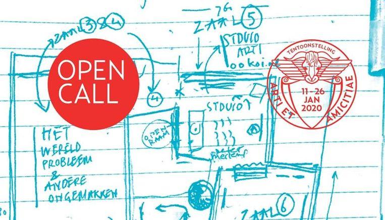 Open Call banner. Beeld
