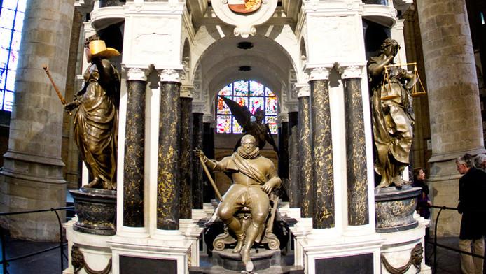 Het praalgraf van Willem van Oranje in de Nieuwe Kerk in Delft.