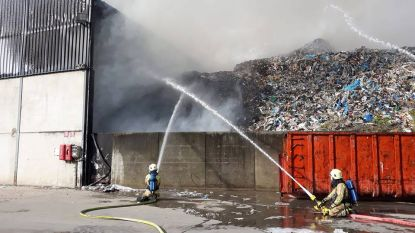 Brand bij Containers Maes in Tessenderlo