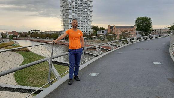Dieter Neirinck zal proberen om de volle 24 uur het parcours af te lopen en af te wandelen.