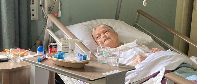 Dieni van Halteren op een eerdere foto in de hospice in Tilburg.