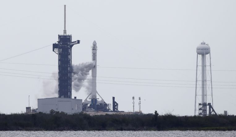 De ruimtebasis Cape Canaveral in Florida. Beeld EPA