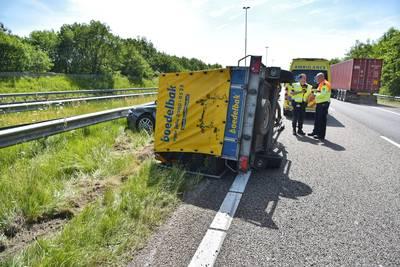 Flinke file op A58 na ongeval vlakbij Bavel