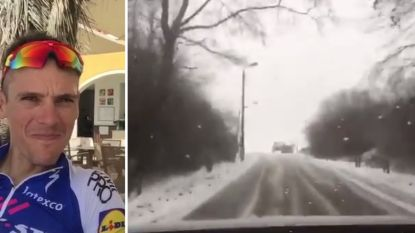 VIDEO: Philippe Gilbert ging vandaag de Bosberg verkennen, maar dat verliep niet helemaal volgens plan
